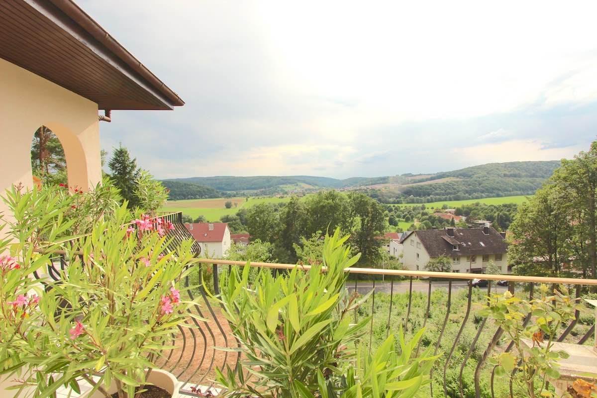 Kuhn Immobilien EG Blick über Bad Bocklet
