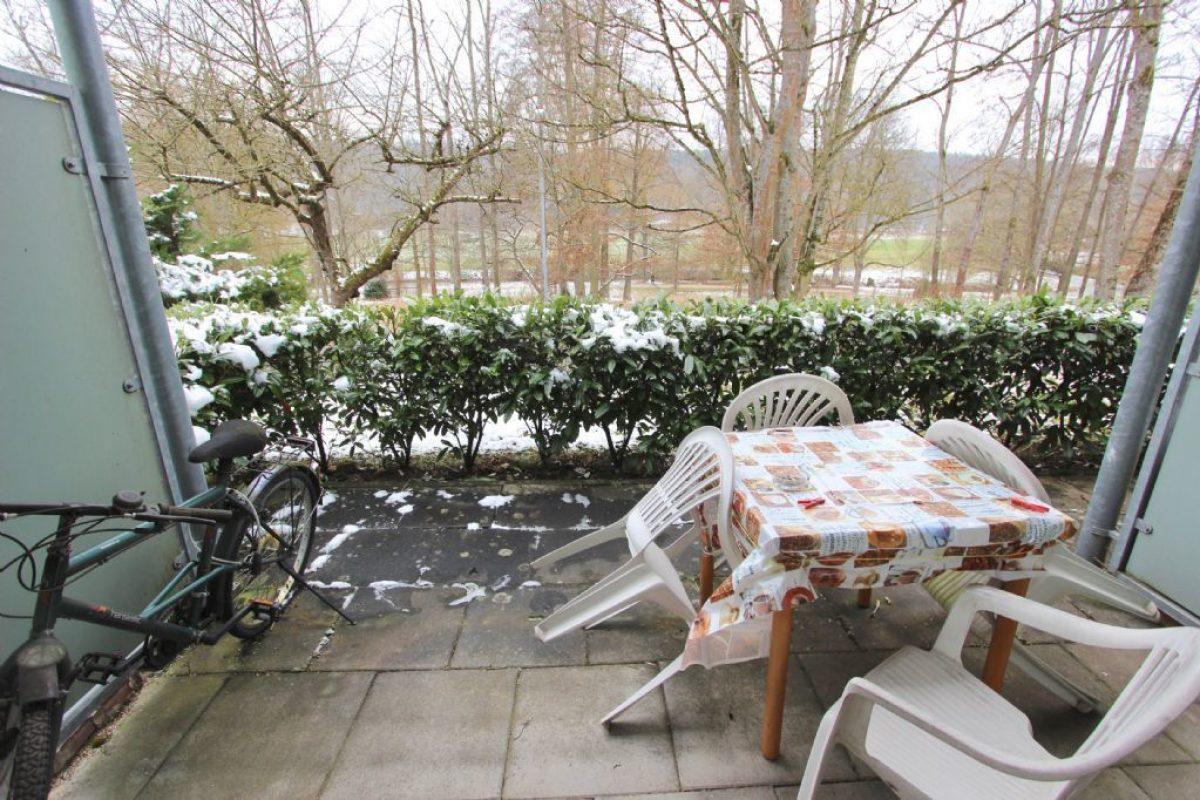 Balkon mit Blick zum Park - Kuhn Immobilien Bad Kissingen