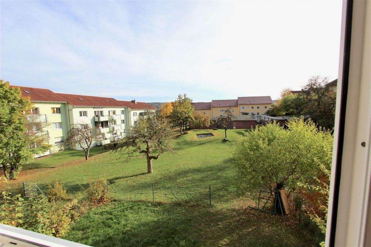 Blick vom Balkon - Kuhn Immobilien Bad Kissingen